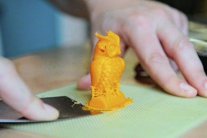 3-D printer A closer look at thet plastic owl made with Saxonburg Area Library's 3-D printer.