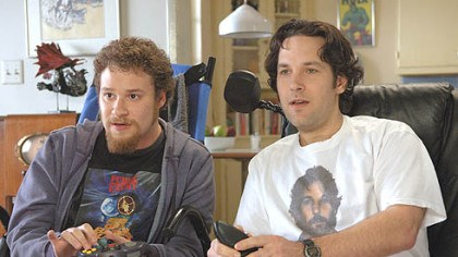 "40-Year-Old Virgin Paul Rudd, right, and Seth Rogen also were paired in ""The 40-Year-Old Virgin."""