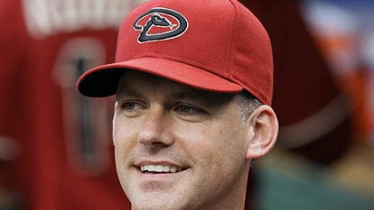 A.J. Hinch Diamondbacks manager A.J. Hinch smiles during last night's game.