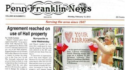 A recent copy of the Penn-Franklin news A recent copy of the Penn-Franklin news.