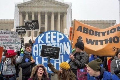 Abortion opponents and abortion rights advocates Abortion opponents and abortion rights advocates both rallied outside the U.S. Supreme Court at the March for Life on Friday in Washington.