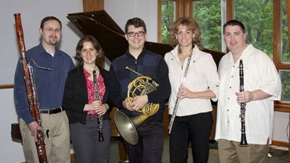 Aeolian Winds From left, Steve Ehrin, Laura Gershman, Zach Koopmans, Peggy Greb and Alex Jones.