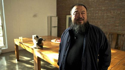 "Ai Weiwei Chinese artist Ai Weiwei at his home studio in the film ""Ai Weiwei: Never Sorry."""