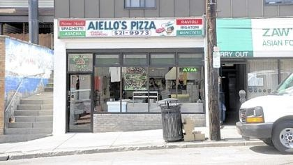 Aiello's Pizza, Squirrel Hill Aiello's Pizza in Squirrel Hill is the first stop off the Parkway for one out-of-town reader.
