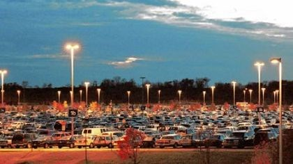 airport Pittsburgh International Airport has 13,200 spaces in its parking garage and surface lots.