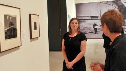 Alana Stieglitz Kanawalsky Alana Stieglitz Kanawalsky, a great-grandniece of the famed early 20th-century photographer Alfred Stieglitz, talks about her family as she stands in front of a portrait of Stieglitz right.