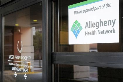 Allegheny Health Network Signs for the Allegheny Health Network at West Penn Hospital in Bloomfield.