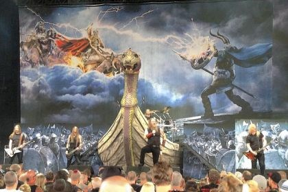 Amon Amarth at Mayhem Festival Amon Amarth performs at the 2013 Rockstar Energy Mayhem Festival at First Niagara Pavilion.
