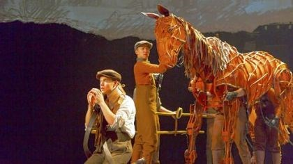 "Andrew Veenstra, Christopher Mai, Derek Stratton and Rob Laqui Andrew Veenstra, Christopher Mai, Derek Stratton and Rob Laqui in ""War Horse."""