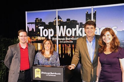 Andy Fraley, Traci Tarquinio, Ted and Suzy Teele Andy Fraley, Traci Tarquinio, Ted and Suzy Teele at the 2012 Top Workplaces awards sponsored by the Pittsburgh Post-Gazette.