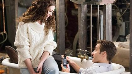 "Anne Hathaway and Jake Gyllenhaal Anne Hathaway and Jake Gyllenhaal star in ""Love & Other Drugs."""