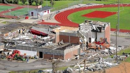 Aplington-Parkersburg High School Aplington-Parkersburg High School: The day after.