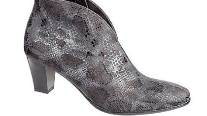 Ara Tala leather bootie Ara Tala snake-printed leather bootie, $194.95 at www.thewalkingcompany.com