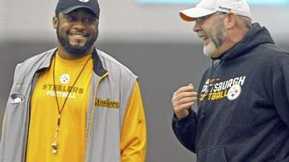 Arians Steelers offensive coordinator Bruce Arians, seen talking with coach Mike Tomlin, may not return next season. Replacing him could be a difficult task for the team.