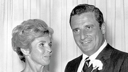 Art Modell, 1969 In this July 1969 file photo, NFL president and Cleveland Browns owner Art Modell and his wife Patricia are shown in Las Vegas.