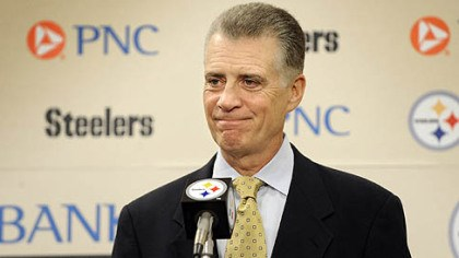 Art Rooney II Steelers' team president Art Rooney II talks talks to reporters after the NFL and players association ended the lockout in July 2011.