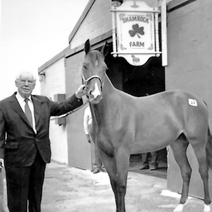 Art Rooney Sr., here with a horse at Shamrock Farm Art Rooney Sr., here with a horse at Shamrock Farm in Woodbine, Md., may best be known for owning the Steelers, but one of his great passions was racing.