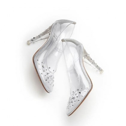 "Asteroid pumps Asteroid pumps from Stuart Weitzman's ""Clearly Timeless"" capsule collection."