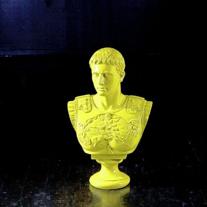 Augustus Caesar Bright green resin bust of Augustus Caesar by Phillips Collection is also available in silver leaf or yellow.