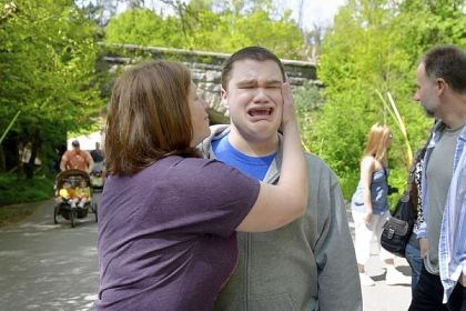 autism maloneys zoo Jeffrey Maloney, 19, is comforted by his mother, Lisa, during a family outing at the Pittsburgh Zoo & PPG Aquarium.