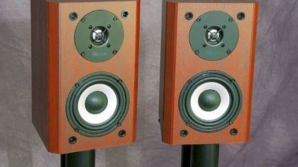 Axiom Audio m2v3 speakers Axiom devotes a lot of engineering resources into its products, and you can tell by the quality sound of its product, such as the Axiom Audio m2v3 speakers.