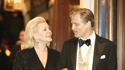 "Bacall and Harrelson in ""The Walker"" Lauren Bacall and Woody Harrelson starred in ""The Walker."""