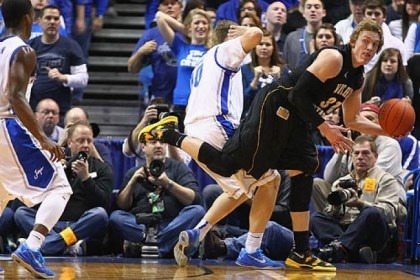 baker Wichita State freshman Ron Baker, right, with the ball, missed 21 games with a stress fracture in his foot but returned for the Missouri Valley Conference tournament and scored 29 points in three games.
