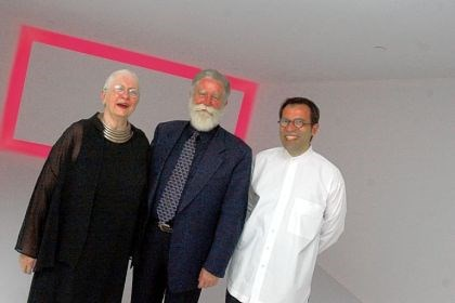 Barbara Luderowski, James Turrell and Michael Olijnyk Mattress Factory co-directors Barbara Luderowski, left, and Michael Olijnyk, right, with artist James Turrell in 2002. Mr. Turrell, whom Pittsburgh has a special appreciation for due to his early affiliation with the Mattress Factory, has three major exhibitions occurring at museums across the country.