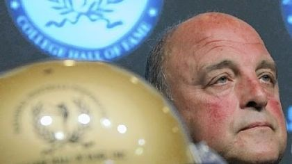 Barry Alvarez Barry Alvarez, former Wisconsin football coach, listens during a news conference Thursday announcing the 2010 College Football Hall of Fame Class. Alvarez was one of two coaches and 12 players selected from a national ballot of 77 candidates.