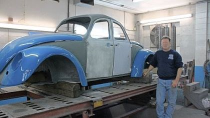 Beetle Al Furney says the distinctive '60s double-front VW Beetle is being patched up and will return as the Route 66 landmark.