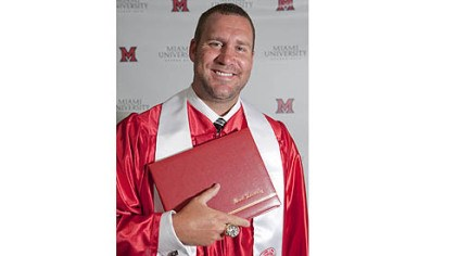 Ben Roethlisberger Ben Roethlisberger graduation photo from Miami University Oxford, School of Education Health and Society.