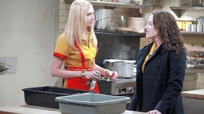 "Beth Behrs and Kat Dennings Beth Behrs, left, and Kat Dennings star in ""2 Broke Girls."""