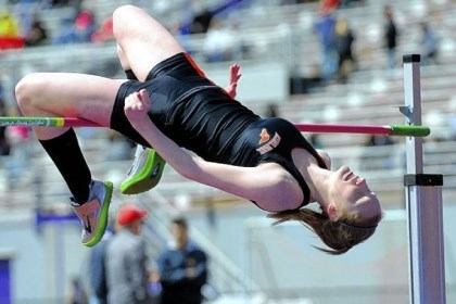 Bethel Track Paige Kochka-Puskar placed second in the high jump at the South Hills Classic held at Baldwin High School on April 6.