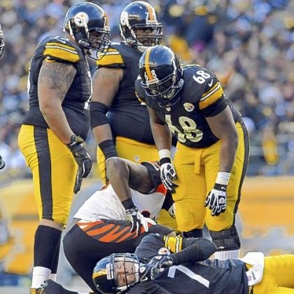 BigBen.jpg Steelers quarterback Ben Roethlisberger is slow to get up after getting hit by the Bengals in the fourth quarter Sunday at Heinz Field.
