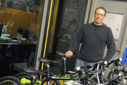 Bike shop Barry Jeffries owns Dirty Harry's bike shop.