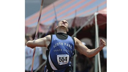 Bill Stanley of South Park Bill Stanley of South Park broke the national prep record in the javelin by more than 2 feet Saturday.