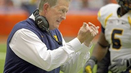 "Bill Stewart West Virginia head coach Bill Stewart: ""I can't get frustrated if people -- the common fan, a sports writer, even one of my players -- question my place here as head football coach."""