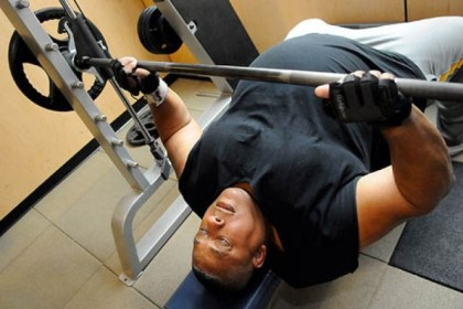 "Boomer 5 Jerry ""Zeus"" Horton, 62, of Wilkinsburg, works out at Urban Active Fitness in Bakery Square."