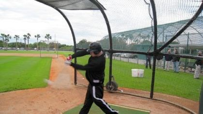 Brandon Moss Pirates outfielder Brandon Moss takes his first batting practice since October knee surgery yesterday in Bradenton, Fla.