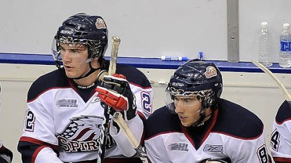 Brandon Saad and Vince Trocheck Saginaw Spirit forwards Brandon Saad and Vince Trocheck, both from the Pittsburgh area, could be picked up in the NHL 2011 draft.