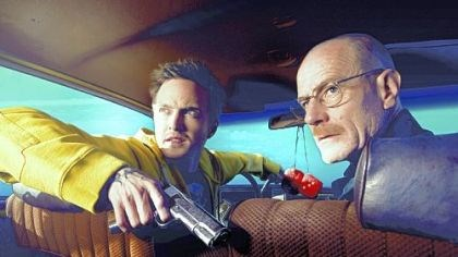 """Breaking Bad"" Jesse Pinkman (Aaron Paul) and Walter White (Bryan Cranston) in ""Breaking Bad."""