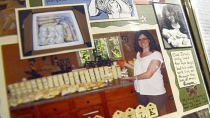 Breast milk donor Heidi Solomon created a detailed scrapbook of her journey to donate 1,300 ounces of breast milk after her son's death.