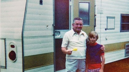 Bret Michaels and grandfather Bret Michaels with his grandfather and the family Winnebago.