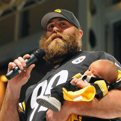Brett Keisel and son, William Brett Keisel and son, William.