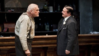 "Brian Dennehy and Nathan Lane Among the stars in ""The Iceman Cometh"" at Chicago's Goodman Theatre were Brian Dennehy, left, as Larry Slade and Nathan Lane as Theodore ""Hickey"" Hickman."
