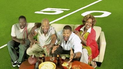 "'Brothers' Daryl Chill Mitchell, left, Carl Weathers, Michael Strahan and CCH Pounder star in ""Brothers."""