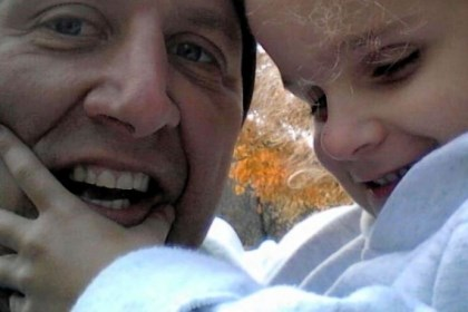 Bruno Point Park women's volleyball coach Mike Bruno will run the Dick's Sporting Goods Pittsburgh Marathon blindfolded in honor of his daughter, Cassie, 7, who is blind.