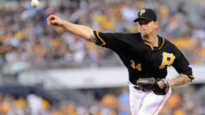 Burnett on the mound Pirates starting pitcher A.J. Burnett delivers against Detroit last night at PNC Park.