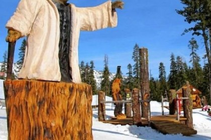 Burton Star Wars Experience Sierra-at-Tahoe resort has created the Burton Star Wars Experience, with chainsaw carvings of Yoda, R2D2, Chewbacca and Ewoks.
