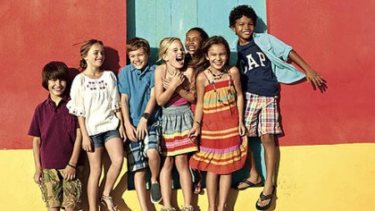 Cabana collection Apparel from the GapKids Cabana collection includes embroidered rompers, denim vests, plaid shorts, graphic tees, striped dresses and more.